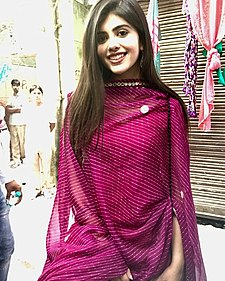 Sanjana Sanghi at the set of Hindi Medium.jpg