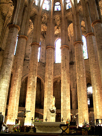Santa Maria del Mar, Barcelona - The east end, restored in 1967