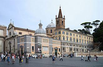 Basilica of Santa Maria del Popolo - Image: Santa Maria del Popolo September 2015 2