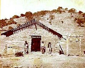 Santa Ysabel Asistencia - The chapel at Santa Ysabel Asistencia, c. 1875.