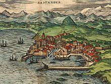 Santander in una raffigurazione del XVI secolo