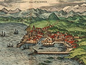 Santander, Spain - Santander, c. 1590 – by Joris Hoefnagel