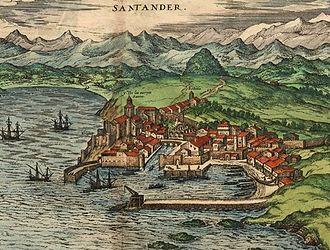 Santander, Spain - Santander, c. 1590 – by Joris Hoefnagel