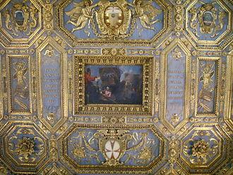 Santo Stefano dei Cavalieri, Pisa - Detail of the wooden ceiling