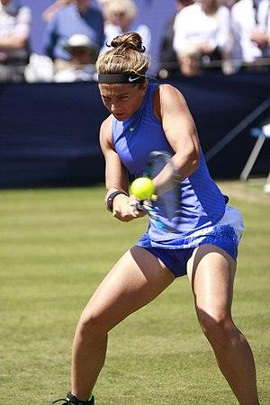 Sara Errani - Errani during the 2017 Grass Court Season
