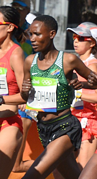 Tanzania at the 2016 Summer Olympics - Sara Ramadhani competing in the women's marathon at the 2016 Summer Olympics.