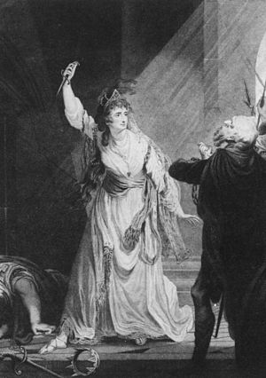 Sarah Siddons - Sarah Siddons as Euphrasia in Arthur Murphy's The Grecian Daughter, at the Theatre Royal, Drury Lane, in 1782