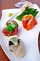 Sashimi with Caviar (Sushi Sei) (28345020698).jpg