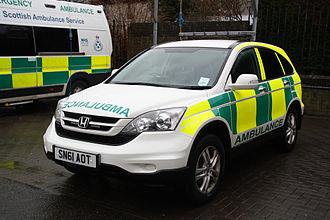 Scottish Ambulance Service - A PRU (Paramedic Response Unit). A Honda CRV 4X4