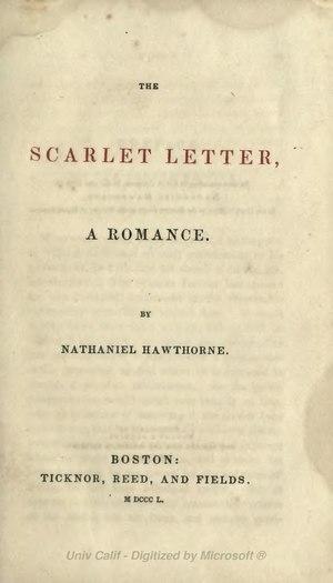 Scarlet Letter (1850) 2ed.djvu