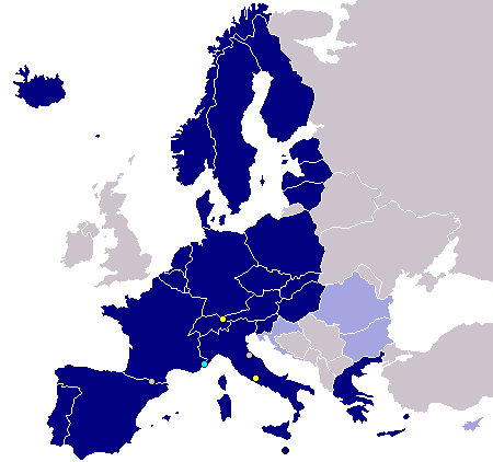 SchengenAgreement map