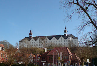 Plön Castle - The north side of the castle which faces the town