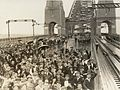 School Children on Bridge - Sydney Harbour Bridge opening (8412375183).jpg