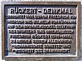 Schweinfurt - Rückert-Denkmal, Plakette.JPG