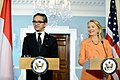 Secretary Clinton and Indonesian Foreign Minister R.M. Marty Natalegawa Address Reporters (8007546688).jpg
