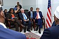 Secretary Kerry Sits with President Hassan Sheikh Mohamud, Prime Minister Omar Abdirashid Ali Sharmarke, and Three Regional Leaders in Somalia (17194556269).jpg