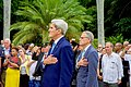 Secretary Kerry and Chargé DeLaurentis During Playing of National Anthem (20588161591).jpg