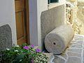 Segment of ancient Greek column in street, Naxos Town, 13M086.jpg