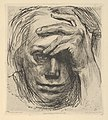 Self-Portrait with Hand on the Forehead (Selbstbildnis mit der Hand an der Stirn) MET DP844984.jpg