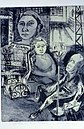 "Self Portrait with Parents, by Berta Rosenbaum Golahny, intaglio (etching and softground), 1949, 18"" x 13"".jpg"