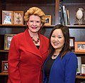 Senator Stabenow meets with Nancy Moua, a pharmacy student from Michigan (32864739766).jpg