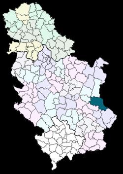 knjazevac mapa srbije Knjaževac (općina) – Wikipedija knjazevac mapa srbije