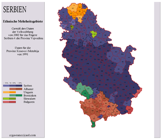demografska karta srbije Stanovništvo Srbije – Wikipedija demografska karta srbije