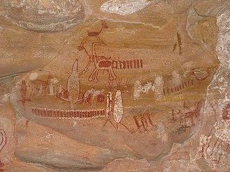 Brazilian painting - Prehistoric paintings at Serra da Capivara National Park.