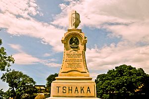 KwaDukuza - King Shaka memorial stone in KwaDukuza
