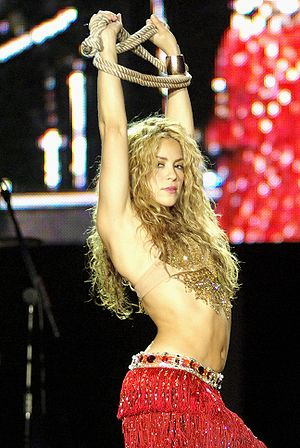 2015 Latin Billboard Music Awards - Colombian artist Shakira (pictured in 2008), is the Social Artist of 2015