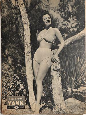 Sheila Ryan - Sheila Ryan pin-up from Yank, The Army Weekly, July 1945