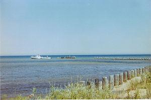 Shelldrake, Michigan - Remnants of Shelldrake tramway for loading lumber onto ships