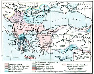 Byzantine Empire under the Palaiologos dynasty - The Byzantine Empire ca. 1265