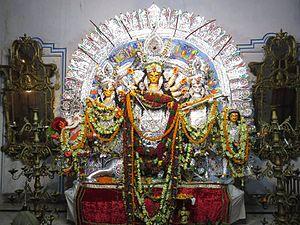 Barowari - The Durga Idol of the Shobhabazar Rajbar.