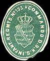 Siegelmarke Commando des 9. Königlich Sächsischen Infanterie Regiments No. 133 W0237965.jpg