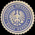Siegelmarke Gemeinde Dittelstedt - Kreis Erfurt W0245992.jpg