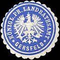 Siegelmarke Königlich Preussische Landrathsamt - Gersfeld W0226008.jpg