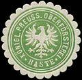 Siegelmarke K.Pr. Oberförsterei Haste W0369290.jpg