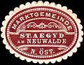 Siegelmarke Marktgemeinde St. Aegyd am Neuwalde N.Öst. W0261482.jpg