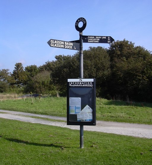 Sign Post at Glasson Dock - geograph.org.uk - 1484170