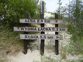Słowiński National Park - Image: Signpost in Słowiński National Park