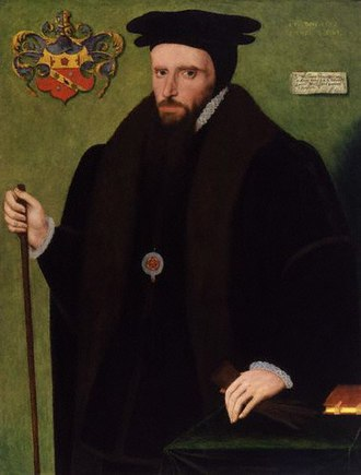 Provenance - Sir William Petre, 1567: artist unknown. By the turn of the 17th century, this portrait was in the collection of John, 1st Baron Lumley, a fact indicated by the cartellino (a trompe-l'œil representation of an inscribed label) added to the painting at upper right. It is now in the National Portrait Gallery, London