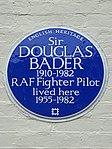 Sir DOUGLAS BADER 1910-1982 RAF Fighter Pilot lived here 1955-1982.JPG