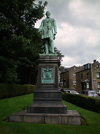 Edward Akroyd - Statue of Edward Akroyd at All Souls Church, Haley Hill
