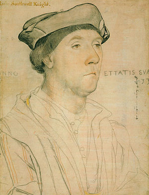 Portrait of Sir Richard Southwell - Preparatory drawing.