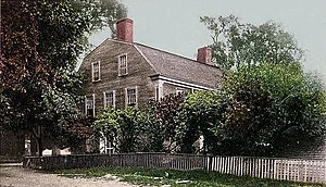 William Pepperrell - c. 1905 postcard of the William Pepperrell House, Kittery, Maine