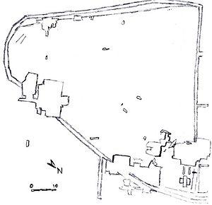 Dolní Věstonice (archaeology) - Sitemap of Dolni Vestonice 1 and 2