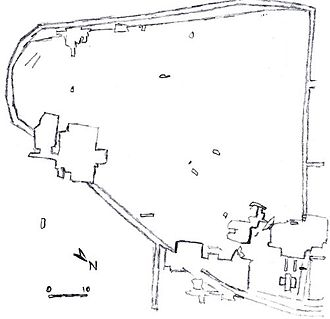 Dolní Věstonice (archaeology) - Sitemap of Dolni Vestonice 1 and 2