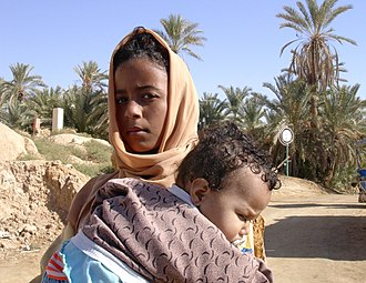 Siwi people - Woman and child from Siwa Oasis, Egypt