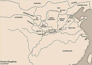 Dai (Sixteen Kingdoms) - Image: Sixteen Kingdoms 350 AD